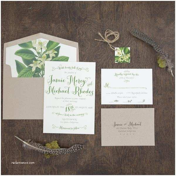 Rustic Garden Wedding Invitations Botanical Rustic Wedding Invitation Outdoor Wedding