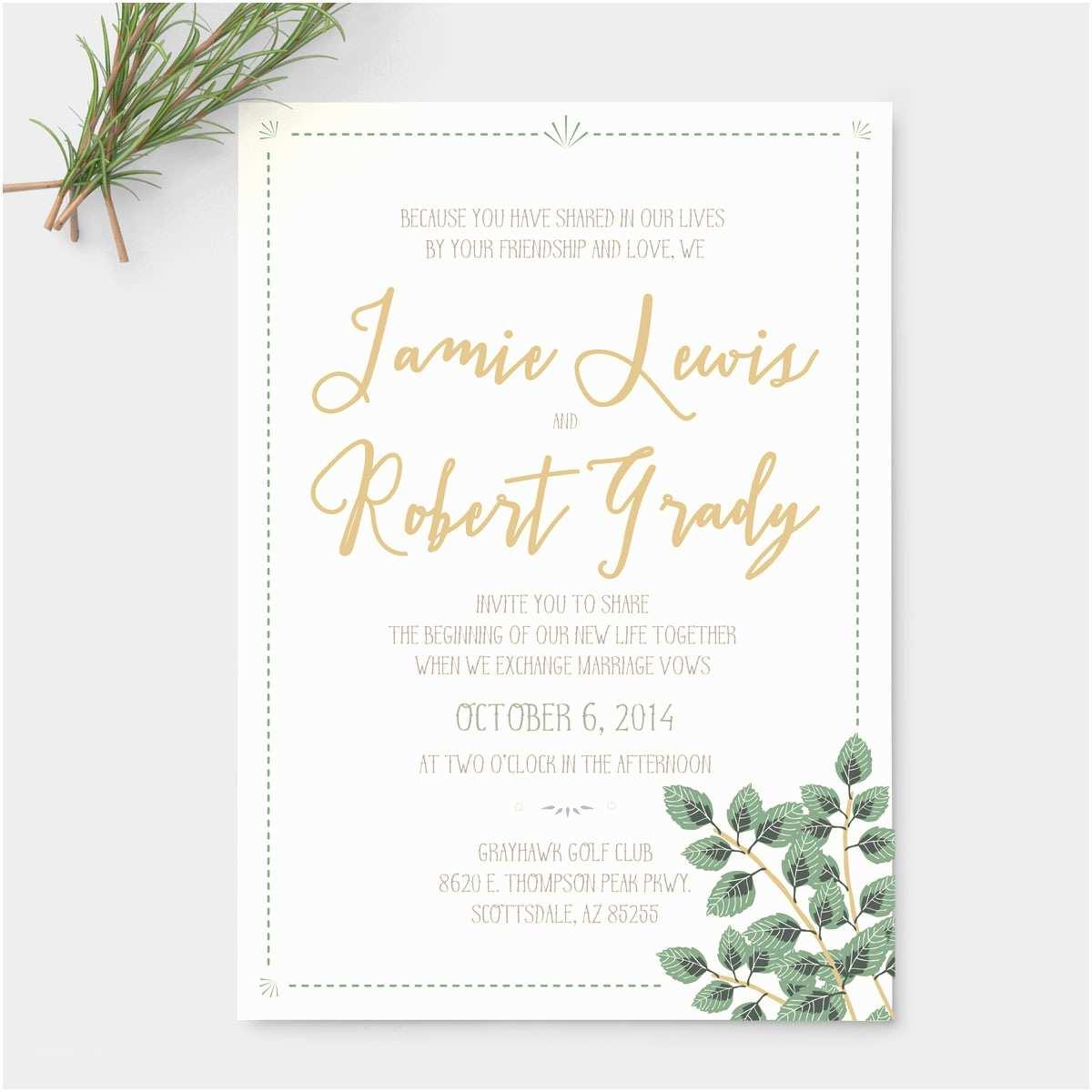 Rustic Garden Wedding Invitations Garden Greens Rustic Wedding Suite Pixie
