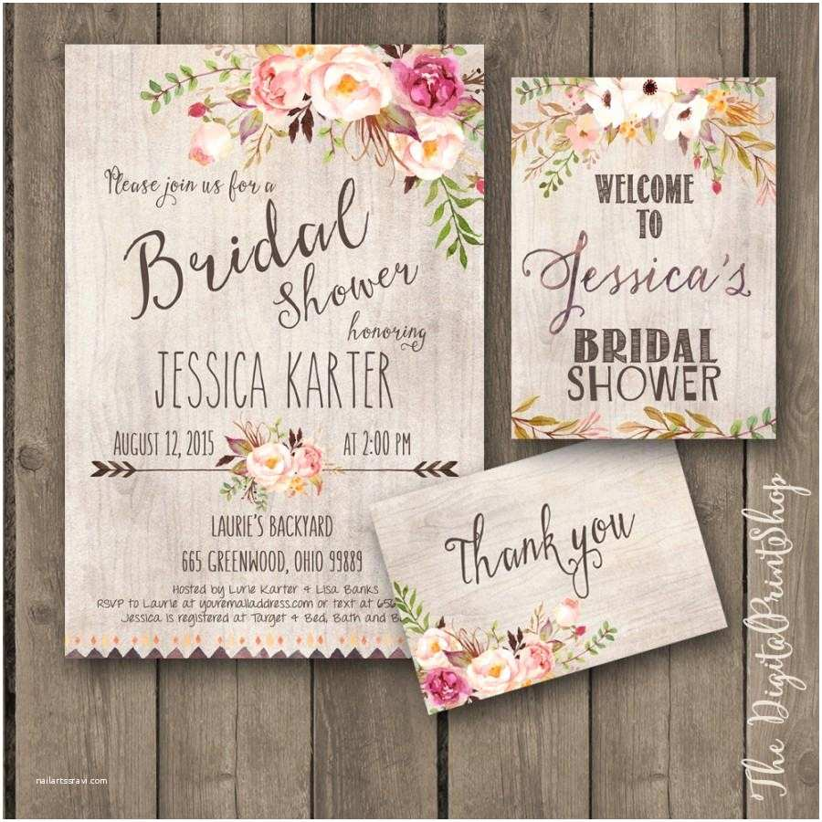 Rustic Garden Wedding Invitations Rustic Garden Bridal Shower Invitation Invite Wel E Sign