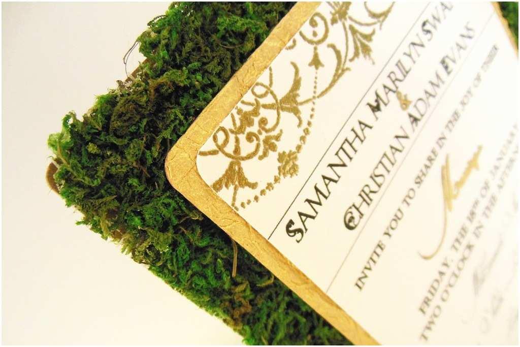 Rustic Garden Wedding Invitations Rustic Garden Green Gold Ivory Wedding Invitations
