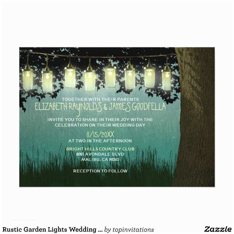 Rustic Garden Wedding Invitations Rustic Garden Lights Wedding Invitations