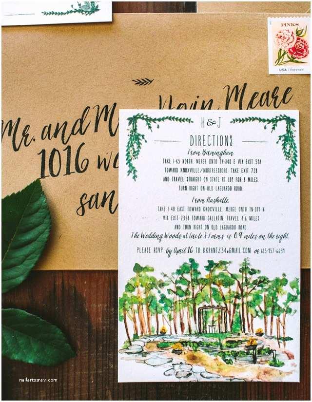 Rustic Garden Wedding Invitations Rustic Watercolor Garden Wedding Invitations