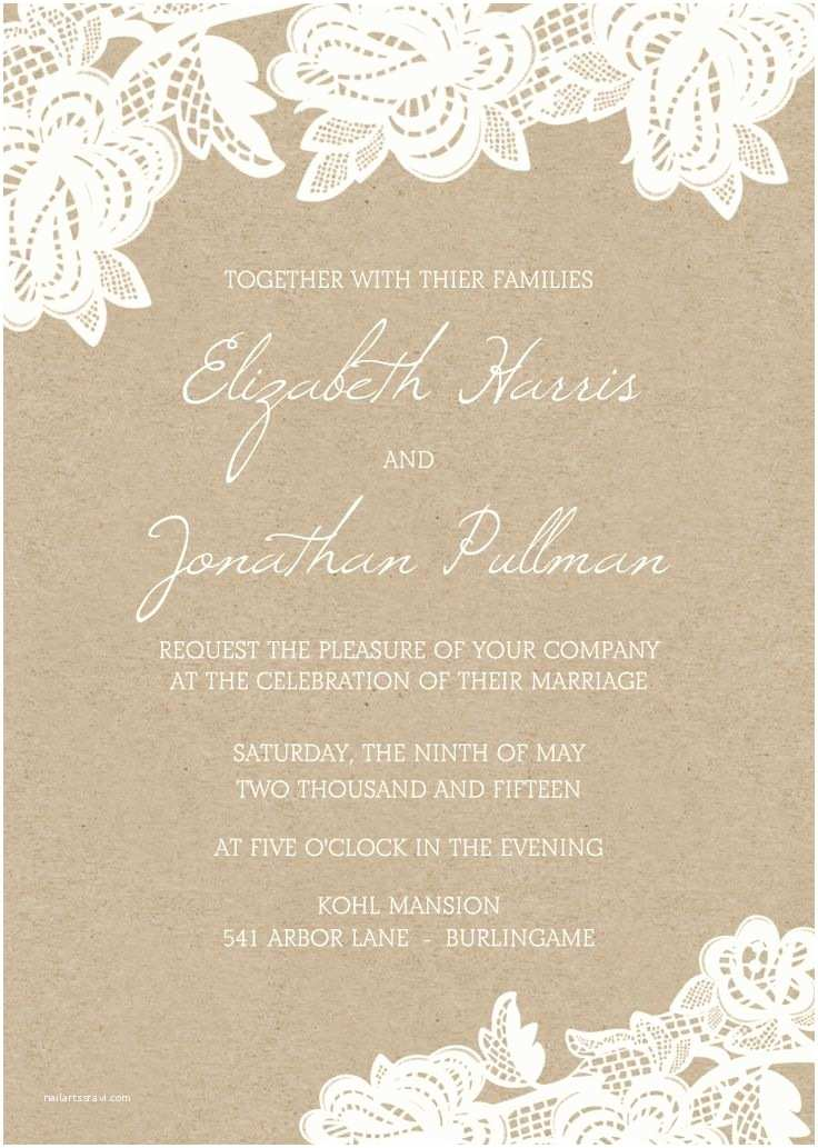 Rustic Lace Wedding Invitations 25 Best Ideas About Lace Wedding Invitations On Pinterest