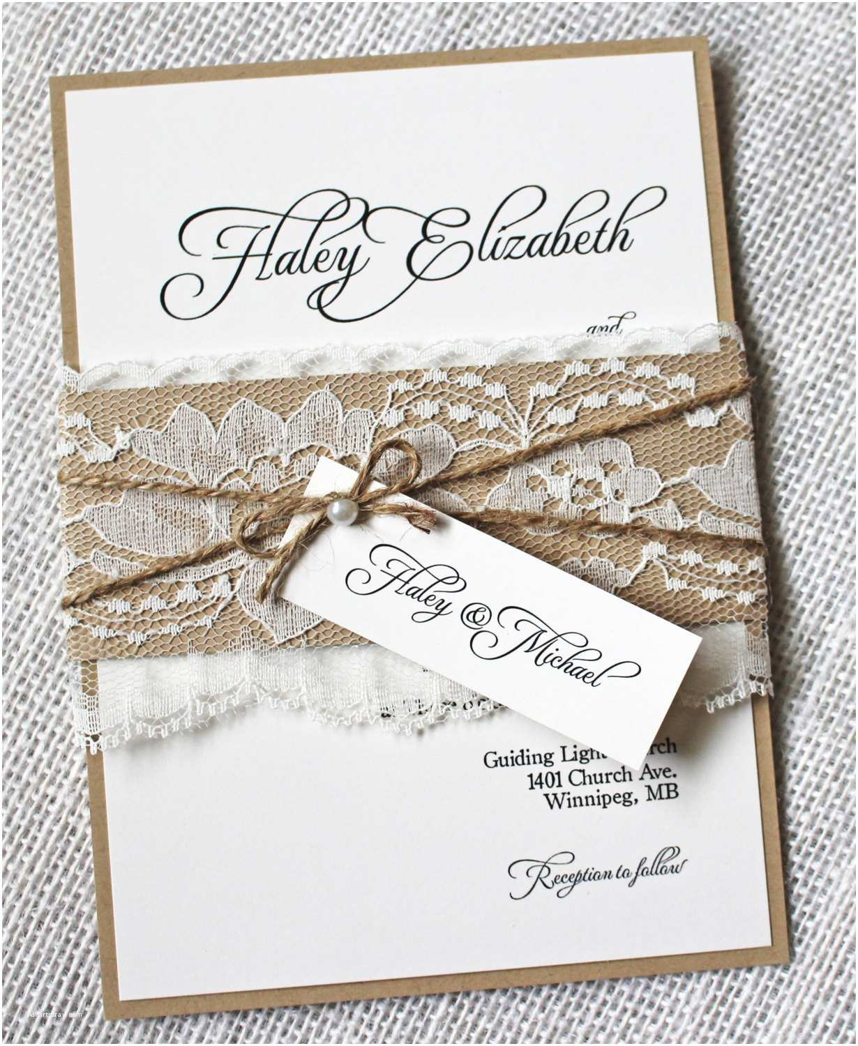 Rustic Lace Wedding Invitations Lace Wedding Invitations Rustic Wedding Invitation Elegant