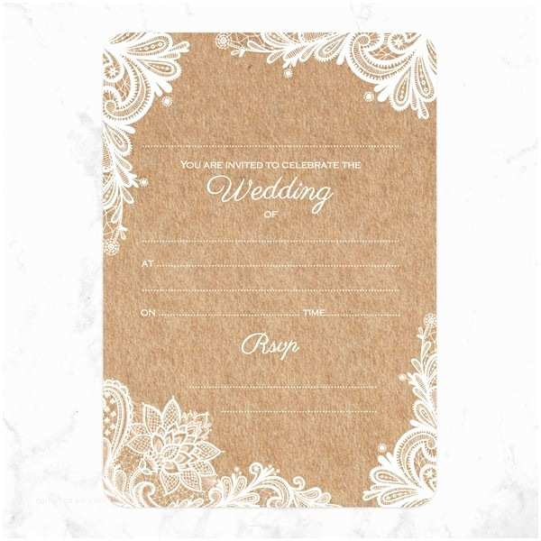 Rustic Lace Wedding Invitations Rustic Lace Pattern Wedding Invitations