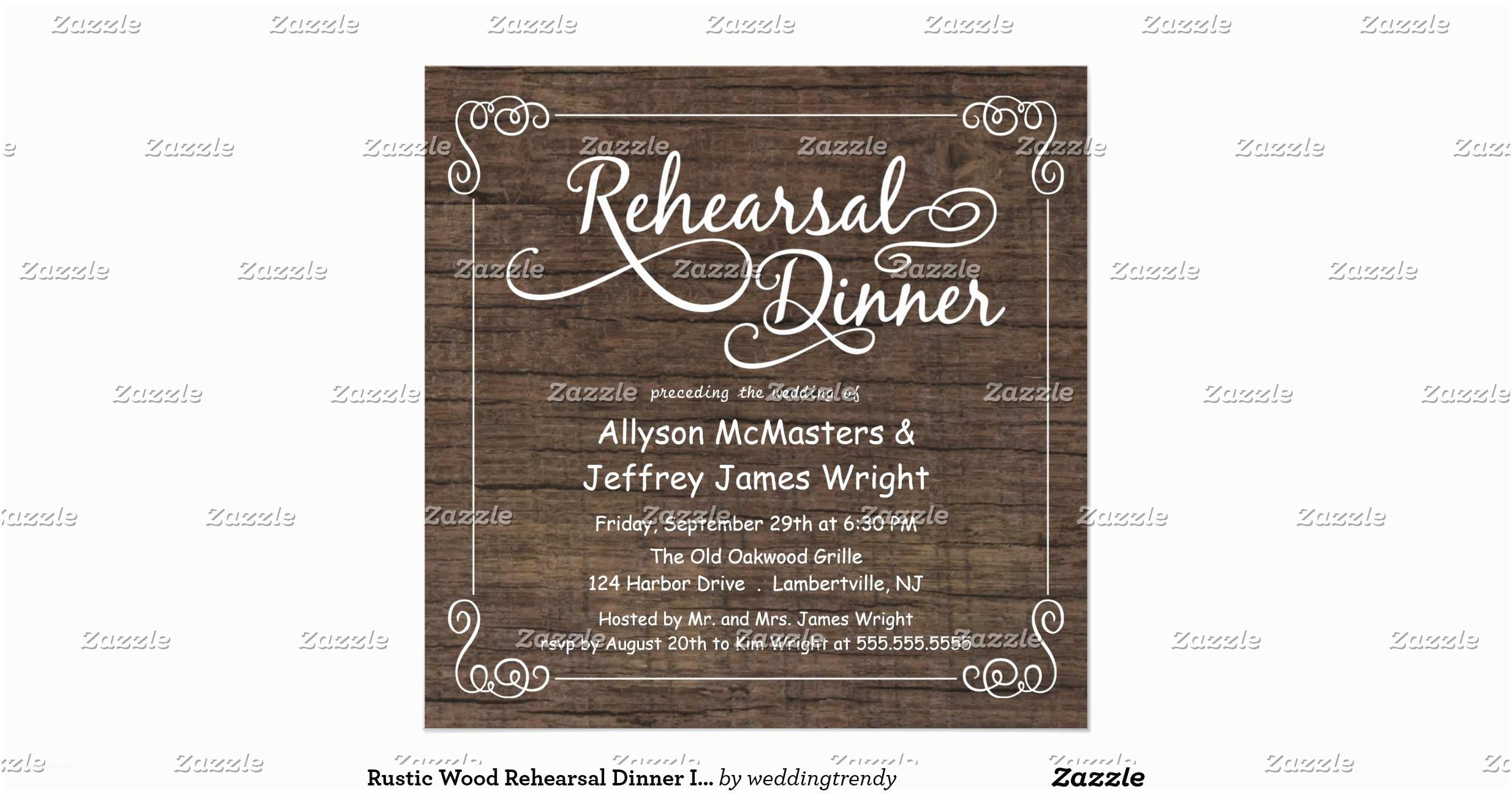 Rustic Rehearsal Dinner Invitations Rustic Wood Rehearsal Dinner Invitations