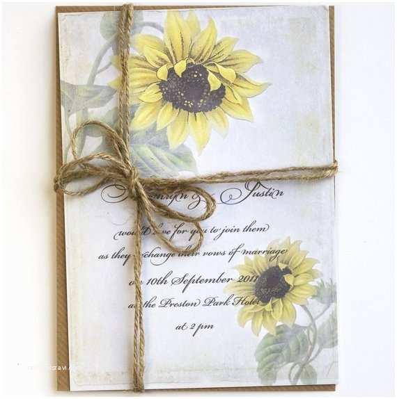 Rustic Sunflower Wedding Invitations Items Similar to Rustic Sunflower Wedding Invitations