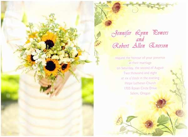 Rustic Sunflower Wedding Invitations Rustic Sunflower Wedding Ideas and Wedding Invitations