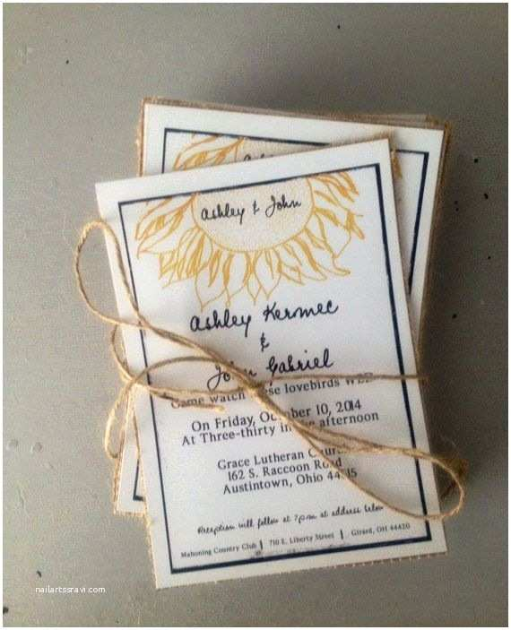 Rustic Sunflower Wedding Invitations Rustic Sunflower Wedding Invitations with Burlap Black and