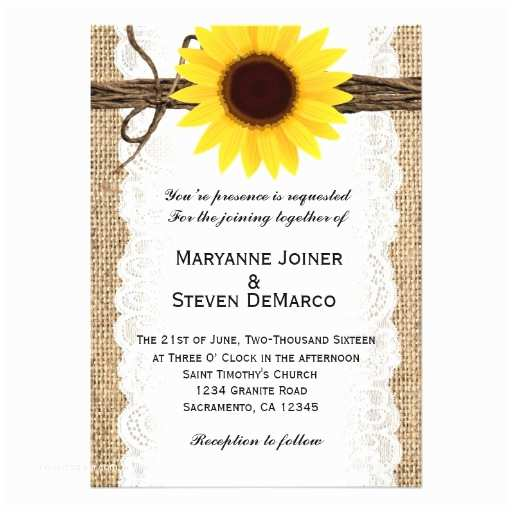 Rustic Sunflower Wedding Invitations Sunflower Wedding Invitations 5 000 Sunflower Wedding