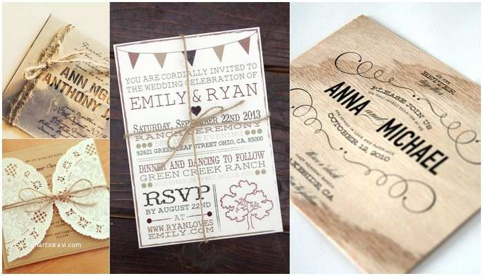 Rustic Vintage Wedding Invitations Diy 18 Gorgeous Rustic Wedding Invitations