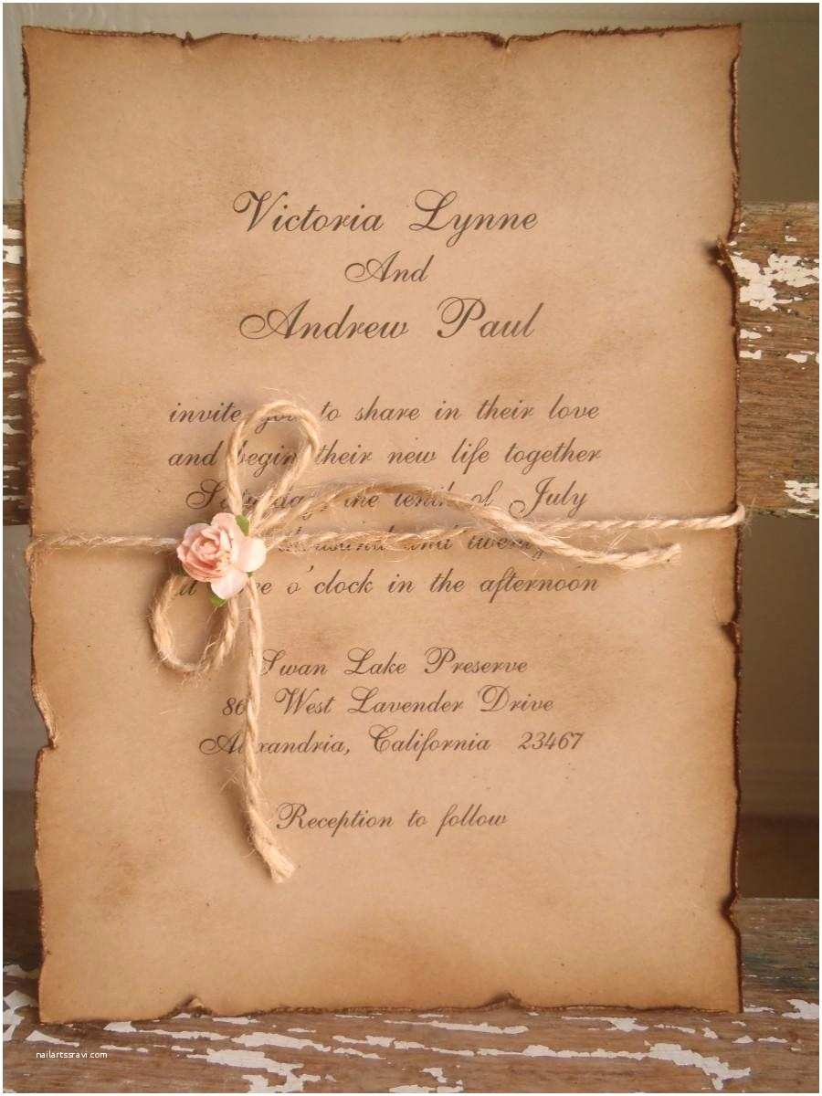 Rustic Vintage Wedding Invitations Woodland Vintage Kraft Blush Pink Wedding Invitation