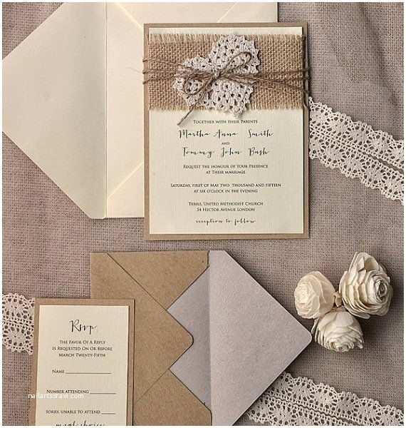 Rustic Wedding Invitation Kits Country Wedding Invitation Kits Cobypic