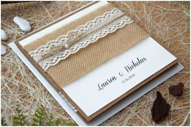 Rustic Wedding Invitation Kits Custom Invitations Rustic Lace Wedding Invitation Kit