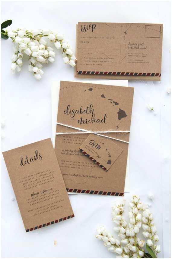 Rustic Wedding Invitation Kits Destination Rustic Wedding Invitation Sets Premium Kraft
