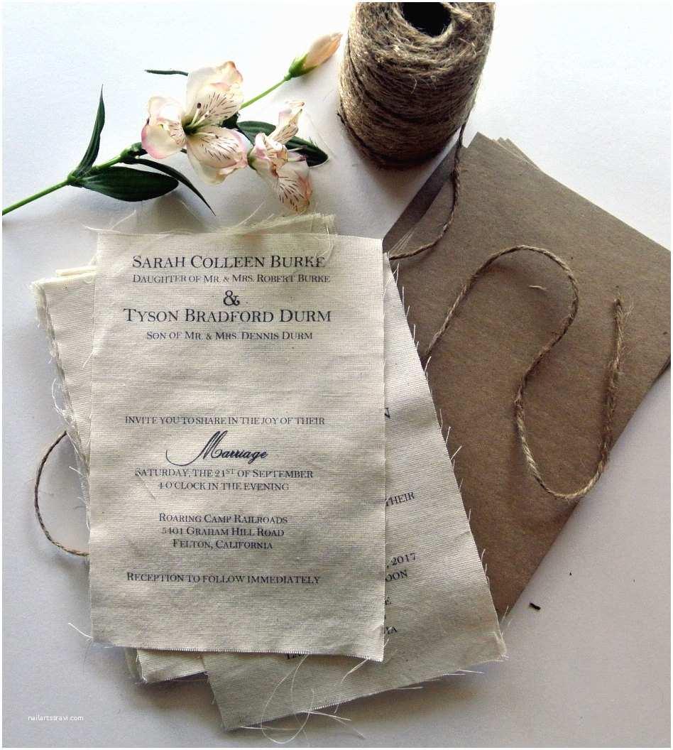 Rustic Wedding Invitation Kits Diy Rustic Wedding Invitation Kit Burlap Fabric Rustic