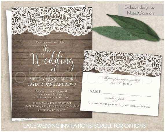 Rustic Wedding Invitation Kits Diy Rustic Wedding Invitation Kit Eco Kraft and by