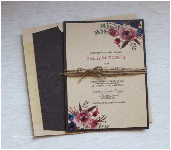 Rustic Wedding Invitation Kits Items Similar to Rustic Wedding Invitation Modern Wedding