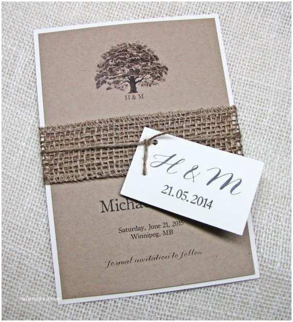 Rustic Wedding Invitation Kits Items Similar to Rustic Wedding Invitation Oak Tree