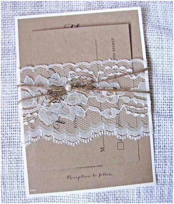 Rustic Wedding Invitation Kits Items Similar to Wedding Invitation Lace Invitation