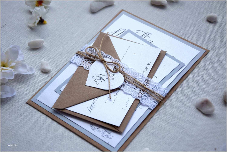 Rustic Wedding Invitation Kits Rustic Chic Wedding Invitation Kit Grey Wedding Invitation
