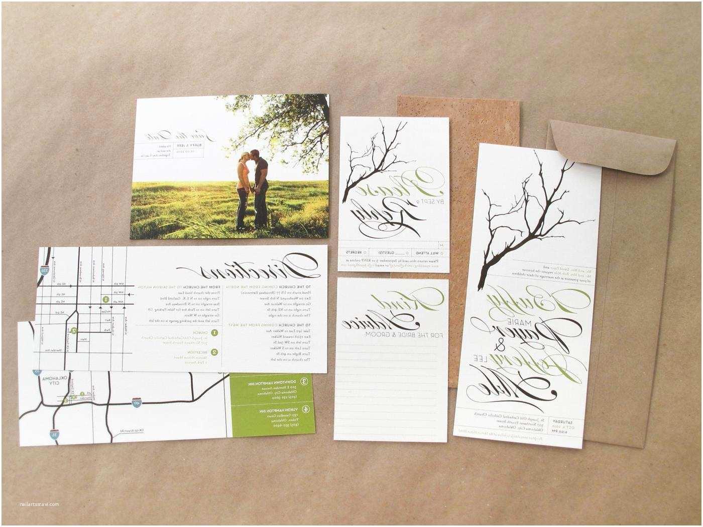 Rustic Wedding Invitation Kits Rustic Diy Wedding Invitation Kits