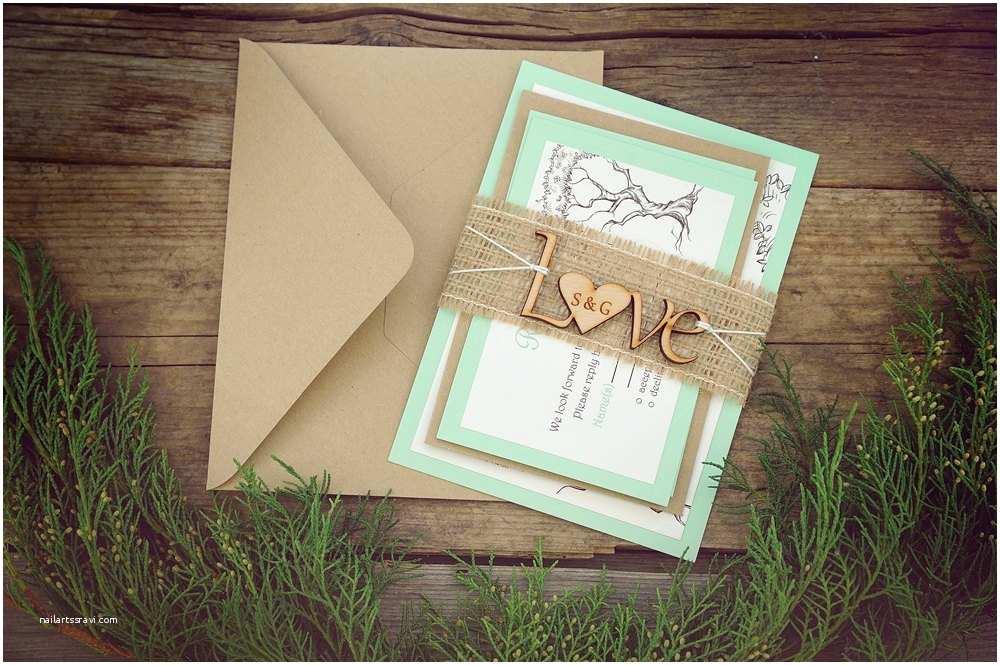 Rustic Wedding Invitation Kits Rustic Wedding Invitation Kits Mint Green Wedding Invitation