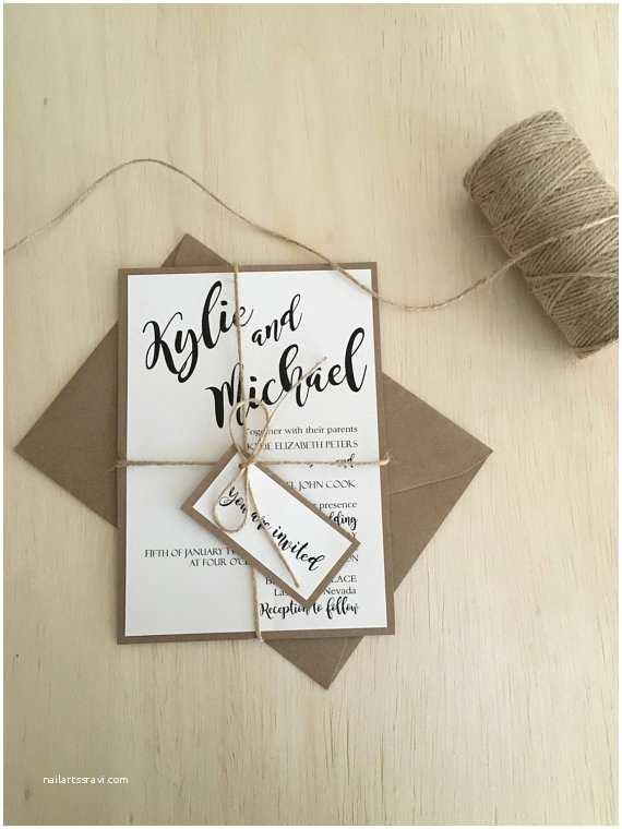 Rustic Wedding Invitation Kits Rustic Wedding Invitation Wedding by Rusticinvitesandmore