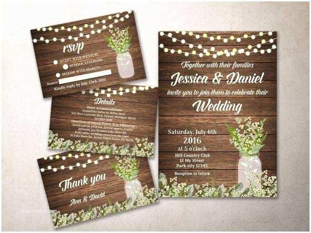 Rustic Wedding Invitation Kits Wedding Invitation Kit Printable Rustic Wedding