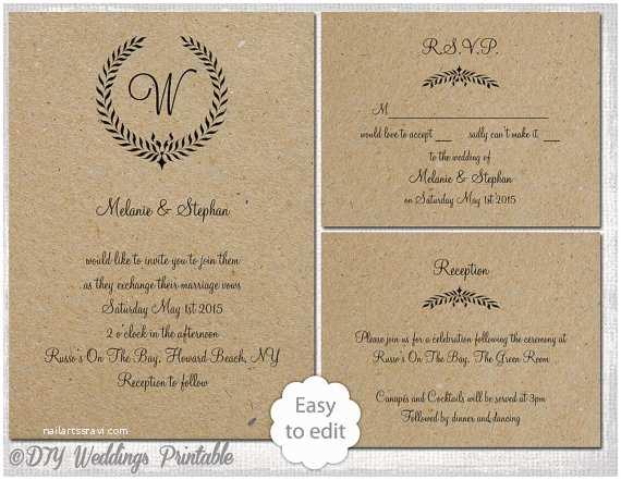 Rustic Wedding Invitation Templates Marvelous Rustic Wedding Invitation Templates