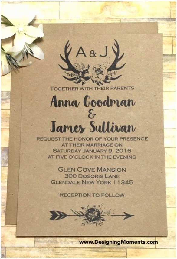 Rustic Wedding Invitation Templates Rustic Country Wedding Invitations – Gangcraft