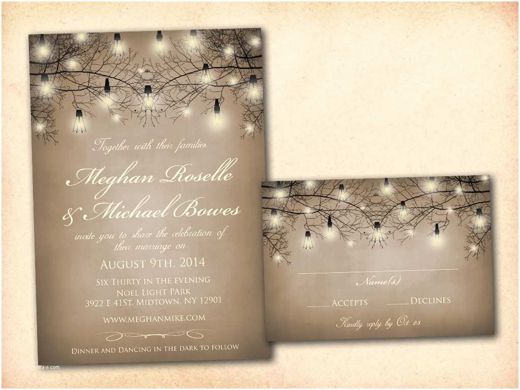 Rustic Wedding Invitation Templates Vintage Bells and Co