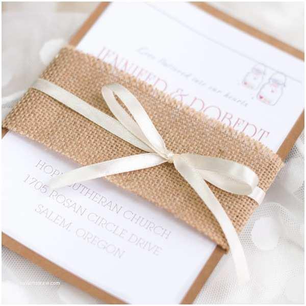 Rustic Wedding Invitations Cheap Affordable Burlap Wedding Invitations at Elegant Wedding