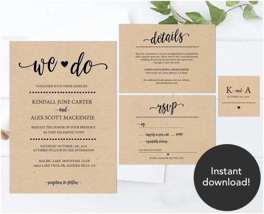 Rustic Wedding Invitations Cheap Rustic Wedding Invitation Template Wedding Invitation