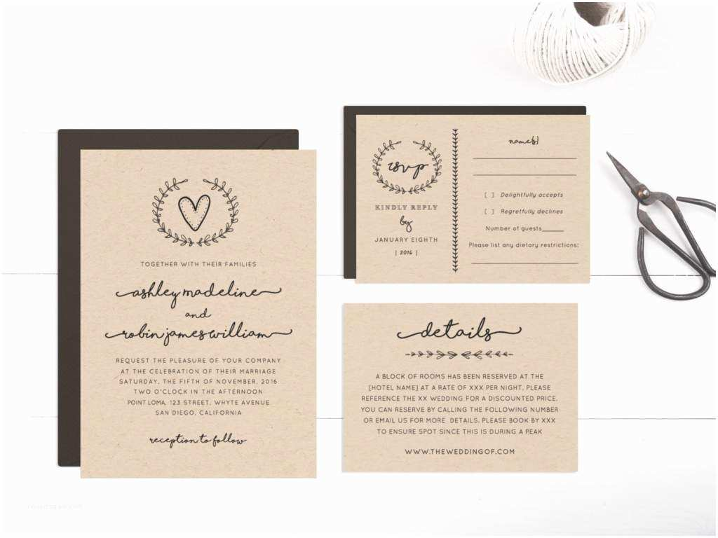 Rustic Wedding Invitations Free Rustic Wedding Invitation Templates – Gangcraft