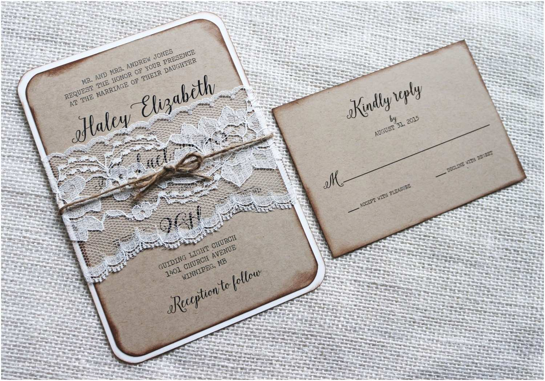 Rustic Wedding Invitations Online Rustic Wedding Invitation Vintage Lace Wedding Invitation