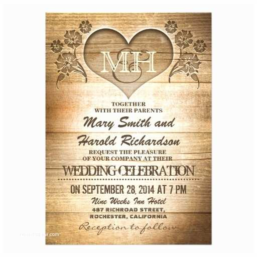 Rustic Wedding Invitations Online Rustic Wood Country Wedding Invitations