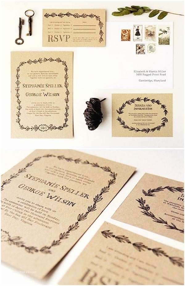 Rustic Wedding Invitations top 15 Popular Rustic Wedding Invitaitons Idea Samples On