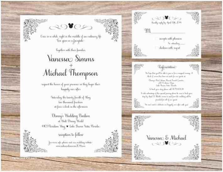 Rustic Wedding Invitations Under $1 Disney Mickey Mouse Wedding Invitations Oh Boy Invitation