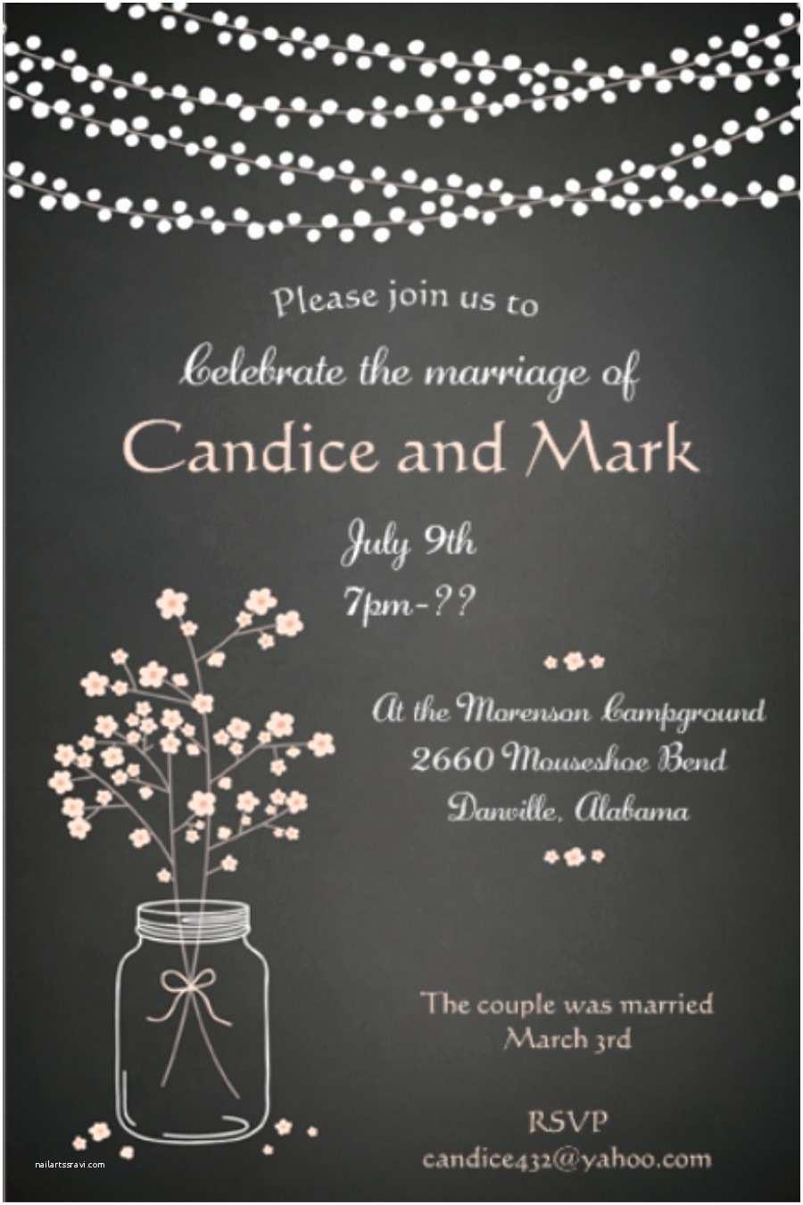 Rustic Wedding Invitations Under $1 Elopement Party Invitations Reception Ly Invitations