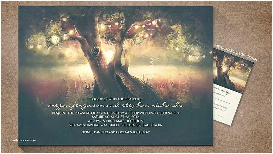 Rustic Wedding Invitations Under $1 Read More – String Lights Tree Romantic Artistic Wedding