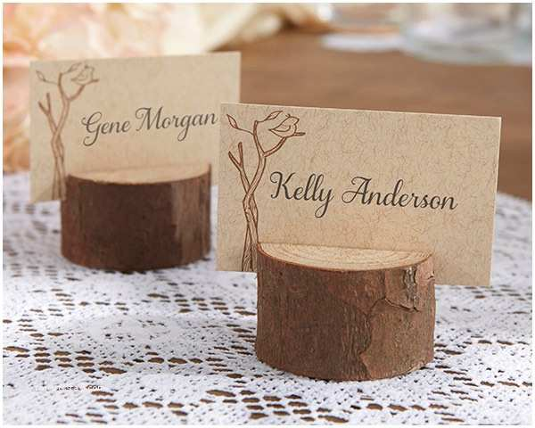 Rustic Wedding Invitations Under $1 Rustic Real Wood Place Card Holder