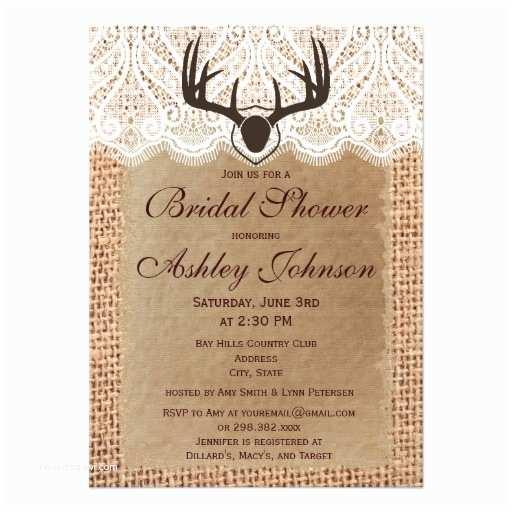 Rustic Wedding Shower Invitations 900 Deer Hunting Invitations Deer Hunting Announcements