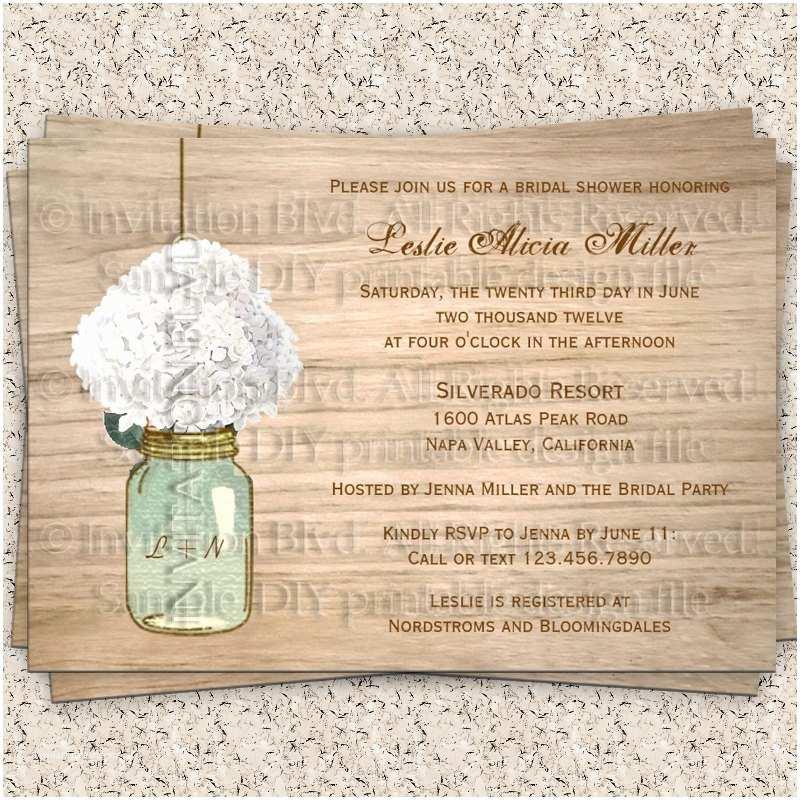 Rustic Wedding Shower Invitations Bridal Shower Invitation Rustic Bridal Shower by