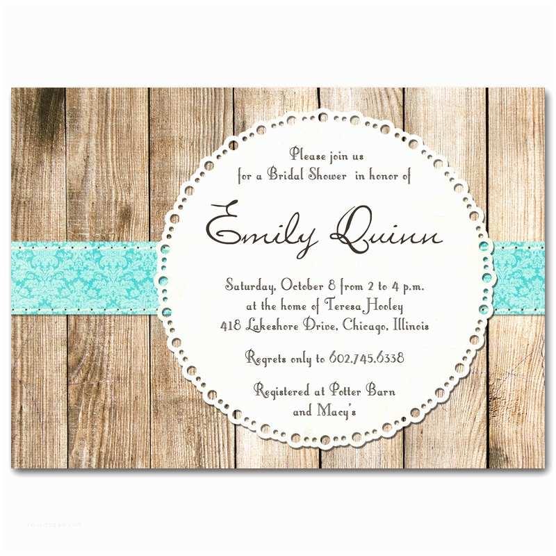 Rustic Wedding Shower Invitations Bridal Shower Invitation Rustic Vintage Gender Neutral by