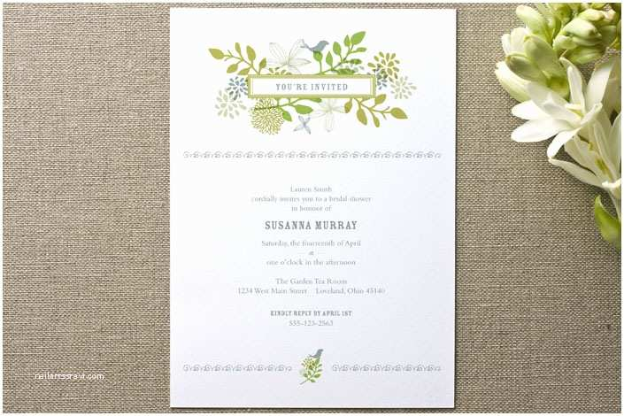 Rustic Wedding Shower Invitations Floral Bridal Shower Invitations Rustic Wedding Chic