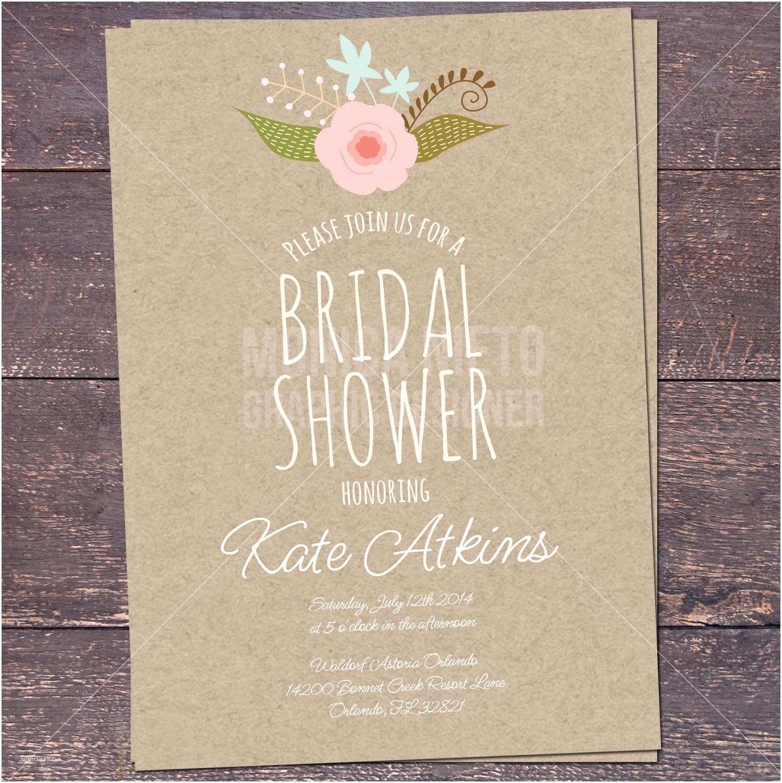 Rustic Wedding Shower Invitations Printable Rustic Bridal Shower Invitation – Epaperheart