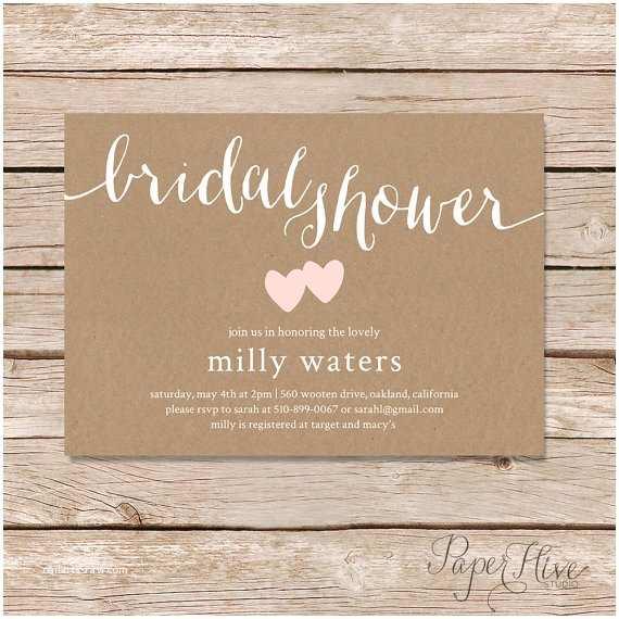 Rustic Wedding Shower Invitations Rustic Bridal Shower Invitation Bridal Shower Invitation