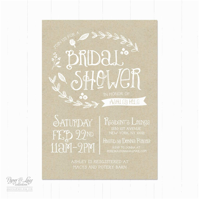 Rustic Wedding Shower Invitations Rustic Bridal Shower Invitations