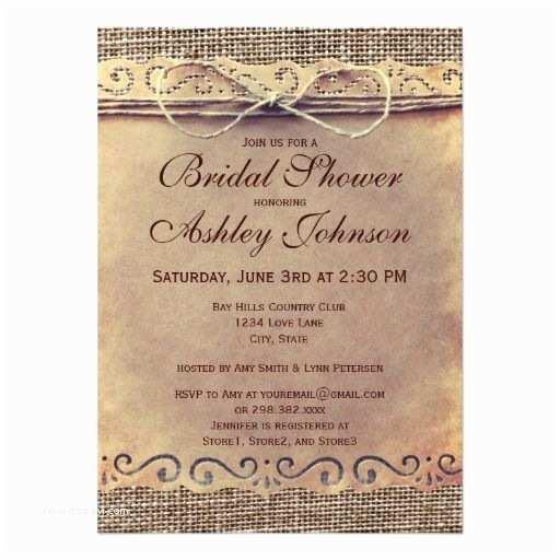 Rustic Wedding Shower Invitations Rustic Country Vintage Bridal Shower Invitations